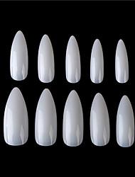 cheap -500 Pieces of Bags Full of Transparent Medium And Long Pointed False Nail Stickers Nail Nails False Nail Tips with Case for Nail Salons and DIY Nail Art
