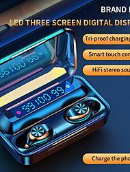cheap -F9-10 TWS True Wireless Earbuds Bluetooth 5.0 2000mAh Mobile Power LED Battery Display Touch Control Sports Running Fitness Headphone for Smartphone Apple Samsung Xiaomi Huawei