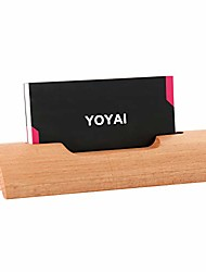 cheap -natural wood business card holder wooden name card holder office desktop card display stands(beech wood pack of 1)