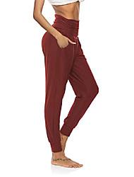 رخيصةأون -المرأة اليوغا sweatpants ركض فضفاضة السراويل صالة السراويل مريح صالة مع جيوب بورجوندي xl
