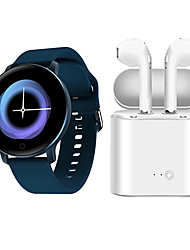 cheap -X9 Smartwatch with Free TWS Wireless Headphone BT Fitness Tracker Support Notify/ Heart Rate Monitor for Samsung/ Iphone/ Android Phones