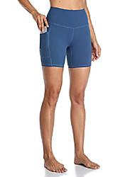 """رخيصةأون -نساء& السراويل اليوغا عالية مخصر عالية مع جيوب 6 """"شورت تجريب& # 40 ؛ ل ، الهامور الأزرق& # 41 ؛"""
