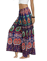 رخيصةأون -السراويل النسائية الشق واسعة الساق الصيف عارضة الشاطئ بوهو الهبي البوهيمي بيلاتيس زائد الحجم 10-18& # 40 ؛ بات ، لنا 8-10& # 41 ؛