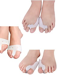 cheap -6pcs Silicone Gel Hallux Valgus Thumb Orthopedic Braces Thumb Valgus Correction Device Foot Care Tool