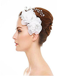 cheap -Rhinestone / Fabrics / Alloy Hair Combs with Rhinestone / Imitation Pearl / Flower 1 Piece Wedding Headpiece