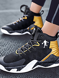 cheap -Unisex Trainers Athletic Shoes Sporty Casual Athletic Daily Running Shoes Basketball Shoes Tissage Volant Breathable Non-slipping Wear Proof Black / Gold Black and White Black / Red Summer Fall