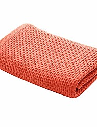 "cheap -waffle bath towel, 55""x28"", extra large, ultra absorbent, fast drying, soft 100% cotton, lightweight,knit bath towel& #40;orange& #41;"