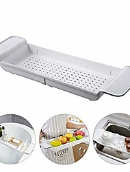 cheap -expandable bath shelf, adjustable bathtub caddy tray storage rack multifunctional bathtub tub organizer for book wine phone bathroom shower, non-slip grip, white