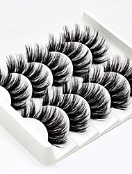 cheap -5 pairs 3d false eyelashes handmade ultra light synthetic fibers 3d mink fake eyelashes reusable soft nature fluffy wispies long lashes with volume makeup eye lash extension set (3d-b)