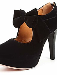 cheap -fashion vintage womens small bowtie platform pumps ladies sexy high heeled shoes black, 10.5 b(m) us