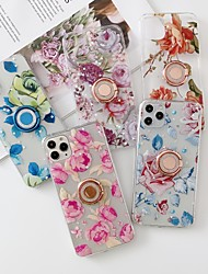 cheap -Case for Samgung Galaxy A50 A70 A21 A21s A31 A51 A71 A91 with Stand Transparent Pattern Back Cover Flower TPU