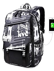 cheap -Men's Canvas School Bag Commuter Backpack Functional Backpack Large Capacity Waterproof Zipper Multi Color Daily White Black Blue Red