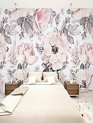 cheap -Custom Self-adhesive Mural Wallpaper Ink And Beautiful Flowers Suitable For Bedroom Living Room Coffee Shop Restaurant Hotel Children's Room Wall Decoration Art  Wall Cloth Room Wallcovering