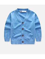 povoljno -Djeca Djevojčice Osnovni Plava Crvena Jednobojni Kratkih rukava Dugih rukava Džemper i kardigan Plava