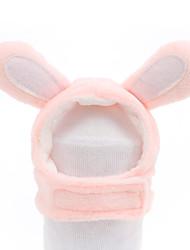 cheap -Dog Cat Hats, Caps & Bandanas Bandanas & Hats Rabbit / Bunny Cat Headwarmers Headpieces Christmas Party Dog Clothes Pink Costume Cotton / Birthday / Halloween