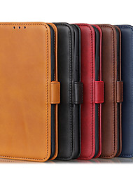 cheap -Case For Nokia Nokia 5.3 / Nokia C3  Card Holder / Shockproof / Dustproof Full Body Cases Solid Colored PU Leather
