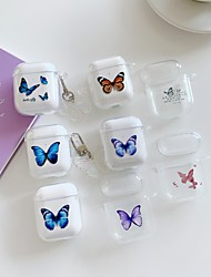 cheap -Case For AirPods 1 2 Pattern Butterfly Headphone Case Hard