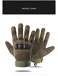 cheap -Bike Gloves / Cycling Gloves Touch Gloves Skidproof Sweat-Wicking Ergonomic Design Full Finger Gloves Sports Gloves Lycra Black Army Green Khaki for Adults' Road Cycling Leisure Sports Multisport