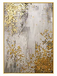 cheap -hot handmade Abstract White light gold Canvas Painting Minimalist style Wall Art Pictures For Living Room Bedroom Aisle Studio Rolled Without Frame