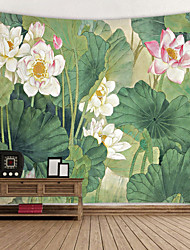 cheap -Chinese Ink Painting Style Wall Tapestry Art Decor Blanket Curtain Hanging Home Bedroom Living Room Decoration Lotus Plant Flower Floral