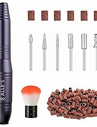 cheap -portable electric nail drill machine, nails file kit for professional manicure acrylic gel nail set, nail salon supplies, 20000rpm drills tools with drill bit, brush and sanding bands | charcoal gray