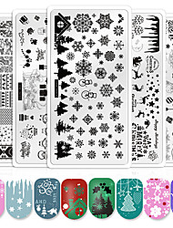cheap -1 pcs Water Transfer Sticker Santa Suits / Snowflake nail art Manicure Pedicure Safety / Novelty / Light and Convenient Trendy / Cute Christmas / Office / Career / Daily