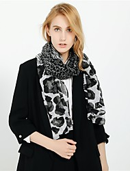 cheap -Women's Active Rectangle Scarf - Print / Leopard Washable