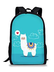 cheap -Large Capacity School Bag Unisex Polyester Pattern / Print Zipper Animal School White / Blue / Yellow / Green / Light Green