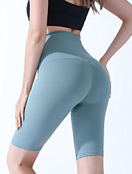 povoljno -Žene Kratke Hlače za jogu Kratke hlače Kontrola trbuščića Butt Lift Prozračnost Crn purpurna boja Bijela Najlon Yoga Fitness Trening u teretani Sportski Odjeća za rekreaciju Rastezljivo