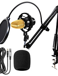cheap -BM 700 Condenser Microphone Studio Wired Computer Mic BM700 NB-35 Holder For Microphone Pop Filter For kareoke PC Laptop