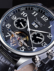 cheap -Jaragar Men's Mechanical Watch Automatic self-winding Vintage Style Casual Calendar / date / day Analog Black / Two Years / Leather / Two Years