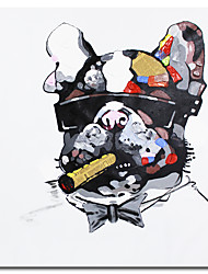 cheap -Pop Art 100% Hand painted Acrylic Canvas Oil Painting Colorful Dog Modern Abstract Animal Wall Art Kid's Room Decor No Framed Rolled Without Frame