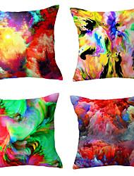 cheap -Set Of 4 Cushion Cover Tie-dye Technology waist Pillows cover Polyester Plush Home Decors Pillowcases 45*45cm