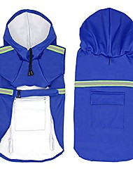 cheap -dog raincoat leisure waterproof lightweight dog coat jacket reflective rain jacket with hood for small medium large dogs blue