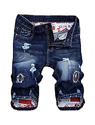 cheap -but& #39;s casual denim shorts moto biker distressed jeans shorts style 1 blue 36