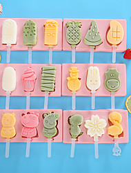 cheap -Ice Tools Full Body Silicone Cartoon Party Evening Drinkware Children'S Homemade Ice Cream Box Diy Ice Cream Mold