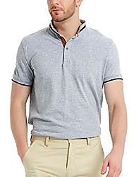 cheap -short sleeve pique cotton green polo shirt for men m