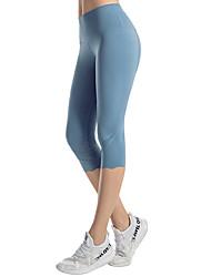 povoljno -Žene Hlače za jogu Kolaž Kapri tajice Kontrola trbuščića Butt Lift Prozračnost Crn purpurna boja Plava Najlon Mrežica Yoga Fitness Trening u teretani Sportski Odjeća za rekreaciju Rastezljivo