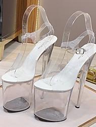 cheap -Women's Dance Shoes Pole Dancing Shoes Heel Buckle Slim High Heel White Buckle
