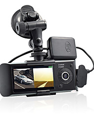 cheap -Dual Camera Car DVR R300 with GPS and 3D G-Sensor 2.7 TFT LCD X3000 Cam Video Camcorder Cycle Recording Digital Zoom