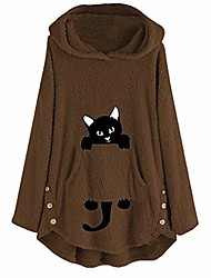 cheap -do what i want cat graphic women sweatshirt long sleeve pullover hoodies tops for girls teens brown
