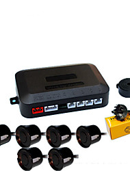 cheap -A45 Car Auto Vehicle Reverse Backup Radar System with 6 Parking Sensors Distance Detection  Sound Warning buzzing