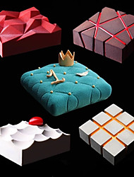 cheap -DIY Silicone Cake Mold and Irregularity Geometry Mold 1 Pc