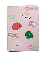 cheap -Case For Apple iPad Pro 11  Ipad Pro 11 inches 2020 with Stand Flip Full Body Cases PU Leather TPU Protective Stand Cover Pattern bear cute rabbit lovely word phrase cat puppy dog