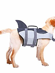 cheap -dog life jacket ripstop pet floatation vest saver swimsuit preserver for water safety at the pool, beach, boating grey