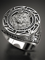 cheap -Ring Classic Silver Copper Silver-Plated Wolf Head Fashion 1pc 9 10 11 12