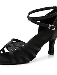 cheap -women& #39;s standard classical latin dance shoes ballroom party practice performance shoes,black,model 213-7, 5 b& #40;m& #41; us