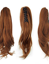cheap -Clip In / On Ponytails / Hair Piece Women / Extention Human Hair Hair Piece Hair Extension Wavy 12 inch Holiday / School / Date