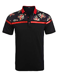 cheap -mens fashion polo floral printing shirt golf polos trendy tee shirts