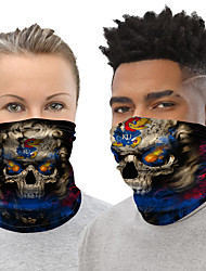 cheap -Ice Silk Neck Gaiter Neck Tube Balaclava Bandana Mask Men's Women's Unisex Headwear Cartoon Skull Fashion UV Sun Protection Dust Proof Cooling for Fitness Running Cycling Autumn / Fall Spring Summer